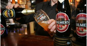 Bulmers cider maker C&C has been a consistent supporter of and advocate for minimum unit pricing in Ireland since it was first mooted in 2013. Photograph: Bryan O'Brien