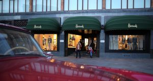 """This year's results for Harrods have yet to be published, but if the rest of the retail landscape in Britain is anything to go by, Harrods will be very lucky to show another increase in profits."" File photograph: Dan Kitwood/Getty Images"