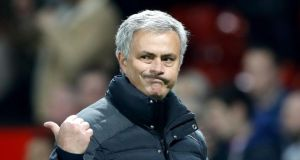 José Mourinho: Manchester United are confident he'll stick with them despite interest from Paris Saint-Germain. Photograph: Martin Rickett/PA Wire