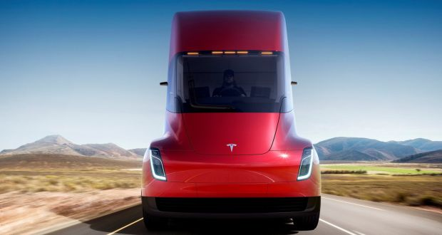 The Tesla Semi Company S Electric Rig Truck Is Seen In This Undated