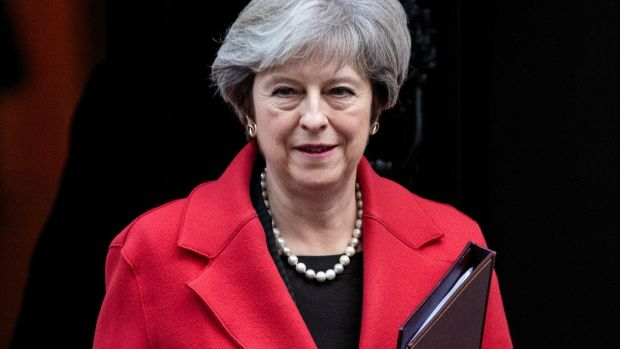 Theresa May leaves Downing St: A relatively calm week for the British prime minister. Photograph: Jack Taylor/Getty Images