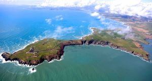 "A new collection of images of Ireland's largest county seen from above - Old Head of Kinsale looking west.  All photographs Dennis Horgan from his just published book book ""Cork from the Air"""
