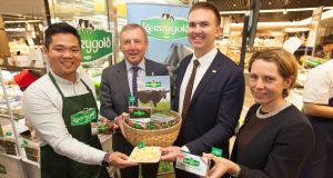 (second from left) Minister for Agriculture Michael Creed:  it is critical that we build these new markets for premium Irish dairy products