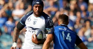 "Fiji winger  Nemani Nadolo in action for Montpellier against Leinster. ""Over the years I just worked on my power. I've finally discovered I'm a big boy."" Photograph: James Crombie/Inpho"