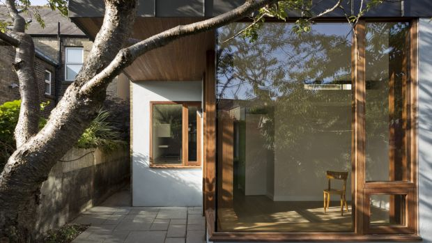 Pulling the new away from the old to form a courtyard allows everything to happen in the floorplan. The success of this design hinges on the courtyard.