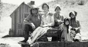 The Ingalls family in the TV series 'Little House on the Prairie'