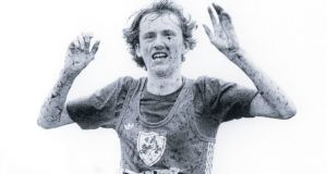 John Treacy winning the World Cross-Country title at Bellahouston Park, Glasgow, in 1978