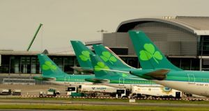 Aer Lingus wants to grow the number of passengers on its North American services from Dublin to 4.5 million by 2020. Photograph: Cyril Byrne/The Irish Times