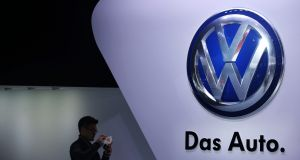 German automaker Volkswagen approved a €34bn spending plan on Friday that accelerates its efforts to become a global leader in electric cars. Photograph: How Hwee Young/EPA