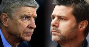Arsenal manager Arsène Wenger  and Mauricio Pochettino,  manager of Spurs. Saturday sees their seventh head-to-head meeting  since Pochettino took  over at Tottenham in May 2014