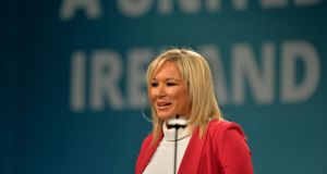 "Sinn Féin leader in Northern Ireland Michelle O'Neill said republicanism and unionism ""must reach a sustainable compromise through respectful dialogue, premised on anti-sectarianism"". Photograph: Alan Betson/The Irish Times"