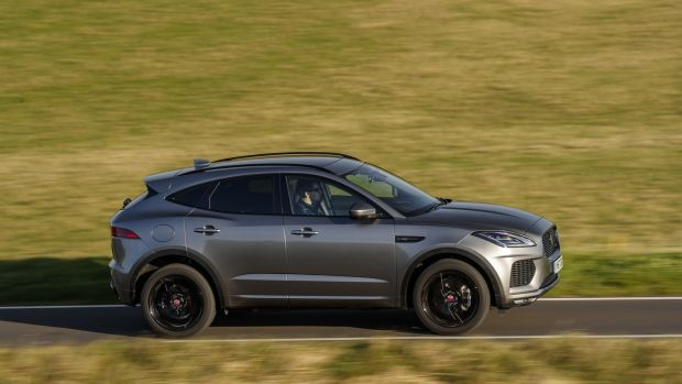 The Jaguar E-Pace has the impressive All Surface Progress Control system – effectively cruise control for off-roading