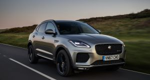 The Jaguar E-Pace: Less stylised than the Evoque, it's a chunky-looking, high-set hatchback