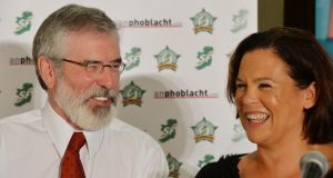Sinn Féin president Gerry Adams's arrest in 2014 was a blow to Mary Lou McDonald when she was on the cusp of becoming an acceptable figure to many middle-ground voters. File photograph: Alan Betson/The Irish Times
