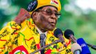 This file photo  shows Zimbabwe's president Robert Mugabe addressing party members and supporters earlier this month. Photograph: Jekesai Njikizana / AFP