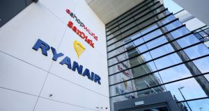 Ryanair headquarters, Dublin: the airline is one of a list of top Irish firms named and shamed for failing to report their greenhouse gas emissions. Photograph: Paul Faith/AFP/Getty Images