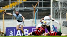 Conor Boylan celebrates Na Piarsaigh's second goal in their Munster final win over Ballygunner. Photograph: james Crombie/Inpho