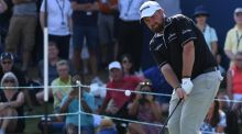 Ireland's Shane Lowry  on the 18th   during the final round of the DP World Tour Championship  in Dubai. Photograph:  Ross Kinnaird/Getty Images