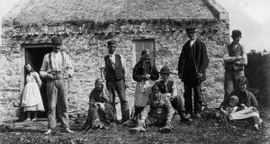 Ireland after the Famine: a family at their smallholding in Gweedore, Co Donegal, around 1900. Photograph: Sean Sexton/Hulton/Getty