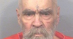 Charles Manson photographed in August 2017 was the leader of a cult known as the Manson Family. Photograph: California Department of Corrections/Reuters