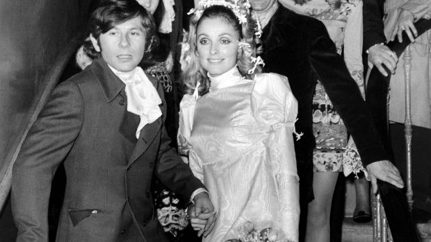 This file photo taken on January 20th, 1968 shows US Actress Sharon Tate and French director Roman Polanski standing on the steps at the Chelsea register office in London, after their wedding. Photograph: AFP/Getty