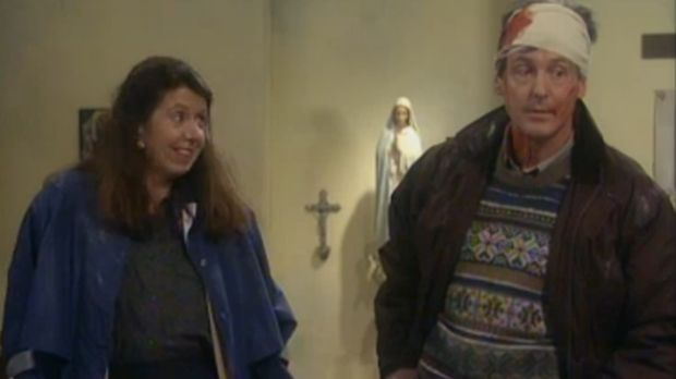 John and Mary, the unhappy couple in Father Ted