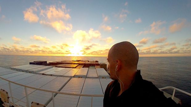 Niall Doherty crossed the Pacific on a cargo ship.