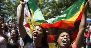 University of Zimbabwe demonstration against Mugabe and his wife. Photograph: AFP Photo/Getty Images