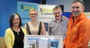 Gert O'Rourke, manager of University of Limerick's  Nexus innovation centre; BNest co-founders Kasia Zabinska and Eamon Ryan; and Siúl Eile founder Liam Fleming.