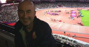 Kieran Creavan pictured in 2012 at the London Olympics. Photograph via  Facebook