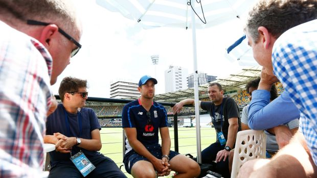 England's Dawid Malan talks to the media during the preview day at The Gabba. Photo: Jason O'Brien/PA Wire