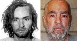 Charles Manson after his arrest in 1969 and in 2009. He became one of the most notorious killers of the 20th century after his followers murdered seven people in 1969. Photograph: New York Times