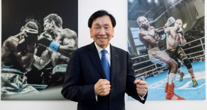 International Boxing Association (AIBA) president Wu Ching-kuo: will be replaced by  by interim chief Franco Falcinelli. Photograph: Fabrice Coffrini/AFP/Getty Images
