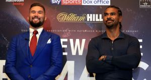"Tony Bellew  and David Haye: ""I was ready to rewrite the ending of the Haye-Bellew saga,"" said Haye. Photograph: Adam Davy/PA Wire"