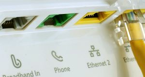 Irish broadband: quality of service is a pressing issue for thousands of households. Photograph: Rui Vieira/PA Wire