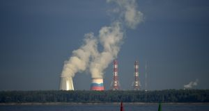 View of a Russian nuclear plant in Saint Petersburg. Photograph:  ERIC FEFERBERG/AFP/Getty Images