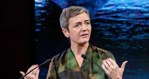 Margrethe Vestager, competition commissioner of the European Commission, is before the European Parliament committee on economic and monetary affairs on Tuesday.