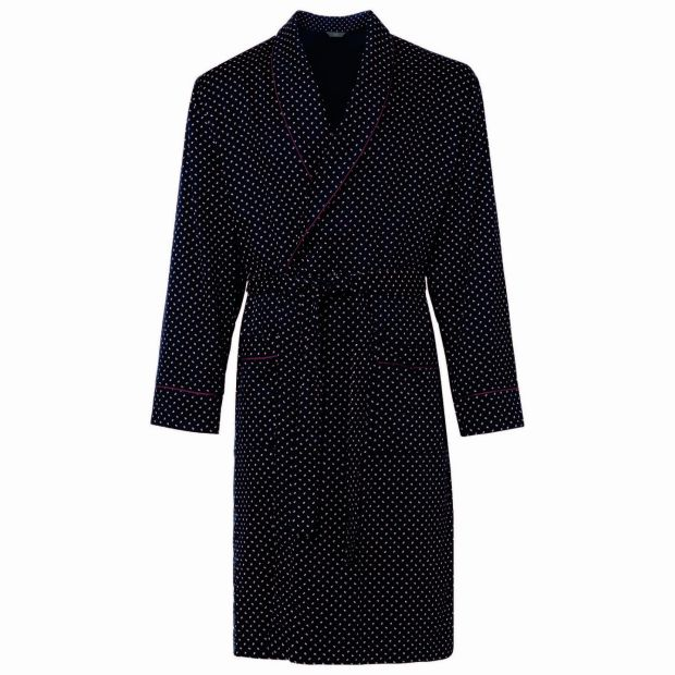 Cotton-blend printed dressing gown, €24, Marks & Spencer.