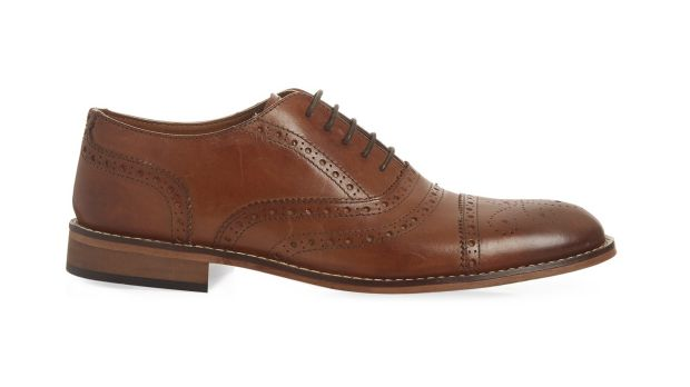 Leather brogues, €35, Penneys.