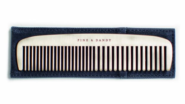 Men's Society 'fine and dandy' comb, €30, Arnotts.