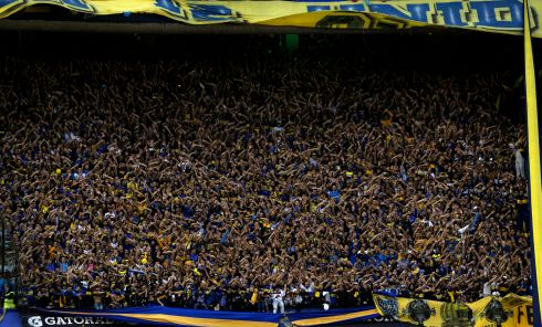 Boca Juniors supporters celebrate after their team defeated Union and won Argentina's first division championship in June.  Photograph: Getty Images