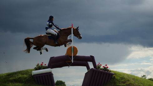 A competitor takes part at Tattersalls during the summer. Photograph: Anthony Lynch