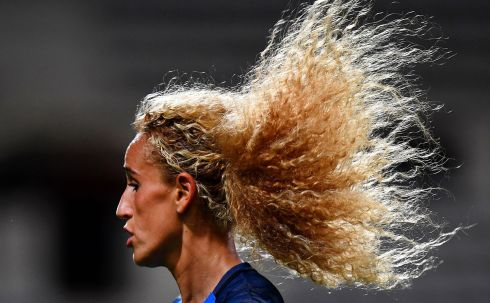 France's Kheira Hamraoui in action during a Euro 2017 qualifying match. Photo: Getty Images