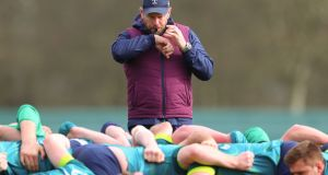 "Ireland scrum coach Greg Feek: ""When we go up against Argentina we have to make sure everyone is dialled in, 100 per cent."" Photograph: James Crombie/Inpho"