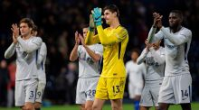 Chelsea's   goalkeeper Thibaut Courtois:  although he  is happy at Chelsea and willing to sign improved terms, he has regularly expressed his fondness for life in La Liga. Photograph AFP Photo