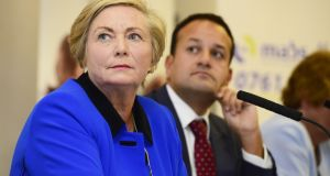 Frances Fitzgerald: The jury was out last night as to whether she did enough to keep her job. Photograph: Cyril Byrne