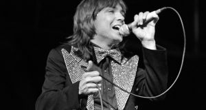 American pop star David Cassidy performing at a concert at the Maine Road football ground of Manchester City FC in 1974. Photograph: PA Wire