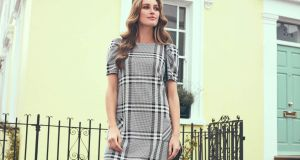 Grey-check dress from Dorothy Perkins.