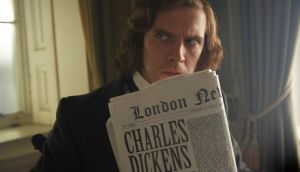 "Dan Stevens as Charles Dickens in 'The Man Who Invented Christmas': ""At the time when Dickens was writing, Christmas was a minor religious holiday. It wasn't at all like it is today. He introduced a couple of things."""