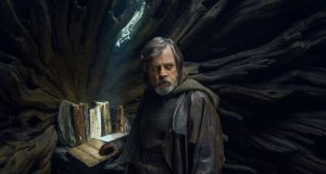 "Mark Hamill as Luke Skywalker in Star Wars: The Last Jedi: ""I have a much bigger waistline."""